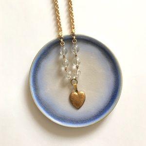 Chunky Brass Heart Necklace
